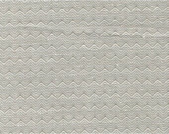 Wavy Gray Linen-Cotton fabric by the yard - woven in Europe - Medium Weight