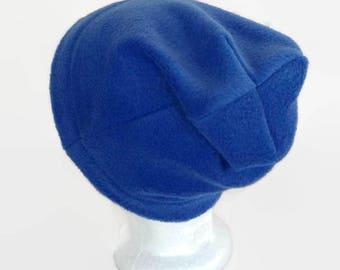 Blue slouch beanie, mens beanie, ladies beanie, XL beanie, L XL slouch beanie, women's slouch beanie, winter hat, ski hat,