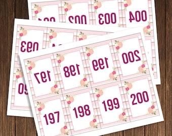 Facebook, Periscope Live Sale Numbers-Numbered Cards-Live Sale-1-200-Ready For Print Mirrored Numbers-Facebook Live Number-INSTANT DOWNLOAD