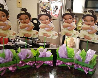 Princess Tiana baby shower centrepiece
