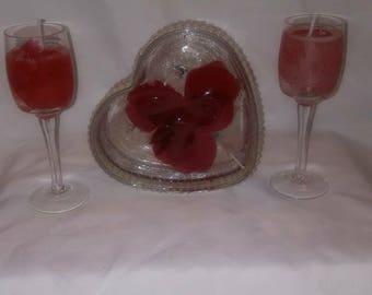Custom Rose scented gel candles custom