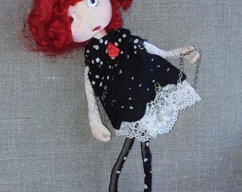 OOAK Art Doll Brooch Matilda