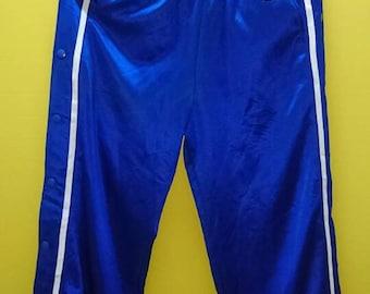 Vintage Champion Button Side Track Pant Rare Blue