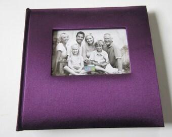 Purple Satin Photo Album, Photo Album, Photo Album for baby, family, Christmas, Easter