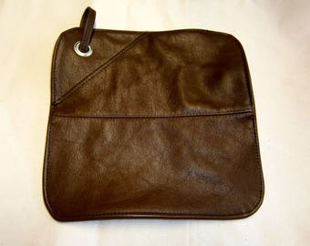 pottholder from  leather cowhide