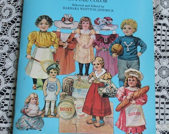 Vintage Antique Advertising Paper Dolls-Antique Paper Doll Reproductions-Paper Dolls-Doll Collector-Advertising Collerctor-Dover Books