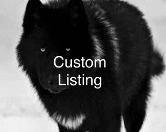 Custom Black Wolf Ears