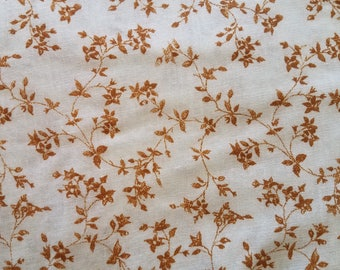 Vintage 1970s Laura Ashley Cotton - Mustard Floral Chintz Print - BTY 7 Yards Available - Perfect for Peasant Blouses!