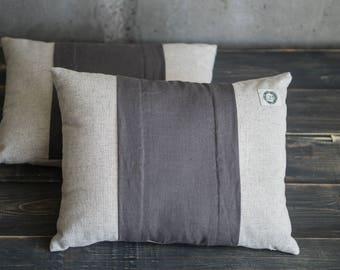 Natural decorative pillow beige throw cushion set hemp pillow organic cushion natural bedroom decor hemp cushion eco friendly pillow