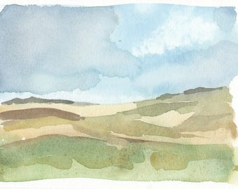 Landscape Original Watercolor