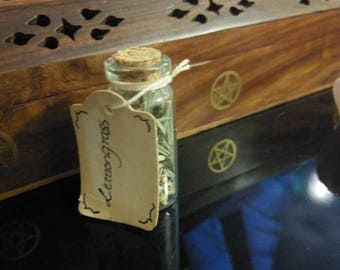 Small vial of lemon grass, Wicca spells witchcraft