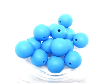10 15mm - Royal Blue Silicone beads