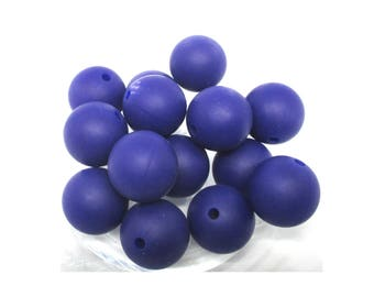 10 15mm - Navy Blue Silicone beads