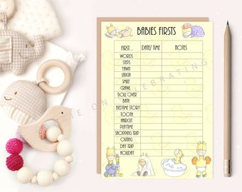 Baby Shower Gift Tracker/ Baby Shower Guest List/ Baby Birth Information/ Babies Firsts/ Baby Memories/ DIGITAL INSTANT DOWNLOADS
