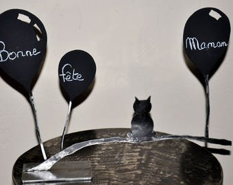 think beast cat chalkboard paint and metal
