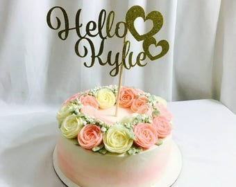 Hello Name Custom Cake Topper