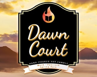 Dawn Court - Hand-Poured Soy Wax Candle Inspired By The A Court of Thorns and Roses Series