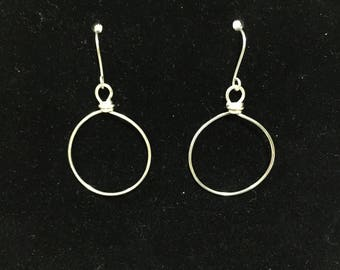 Silver plated wire hoops