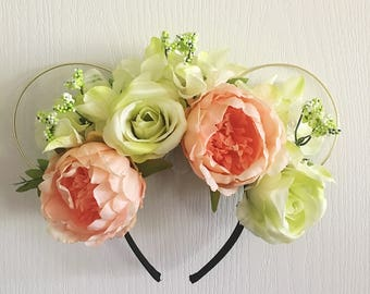 Princess and The Pea floral Mickey Ears