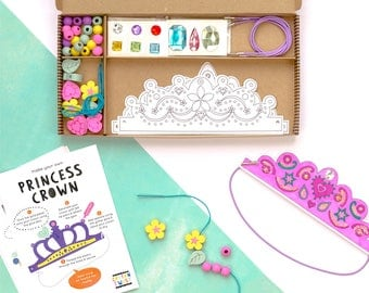 Personalised Become A Princess Craft Kit Activity Box