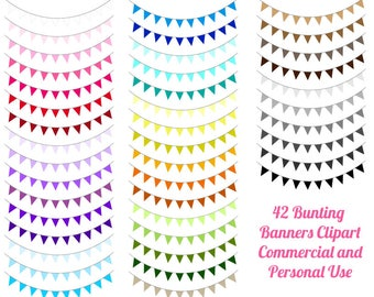 80% OFF SALE Banner clipart, Bunting banners clipart, Party bunting clipart, Banner flag clipart, Party banners clipart, Holiday bunting LL9