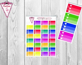 Printable To Call Half Box Checklists - Bright Colors