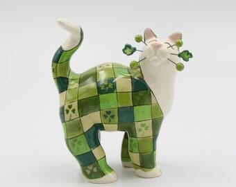 St. Patrick Cat Figurine (13007)