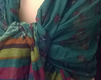 Viscose and cotton scarf