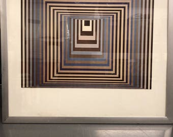 Victor Vasarely Print Squares