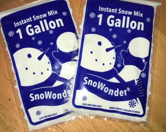 Two bags of Instant Snow