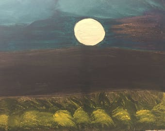 Misty Moonlit Night - Sold