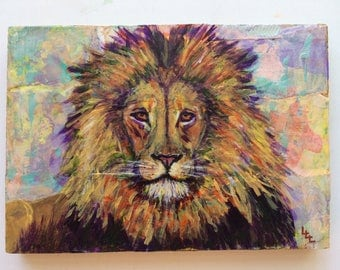 His Majesty is a little painting of a big cat