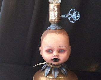 Doll Head Lamp with edison style bulb