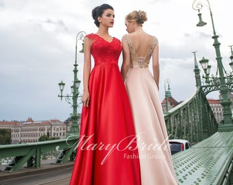 Budapest- Evening dress V-046