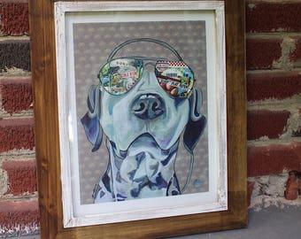 Pet Portrait Pet Art Dog Portrait Dog Art Dog Wall Art Modern Pet Decor Giclée Print Pet Lover Gift Great Dane Art Animal Lover Gift