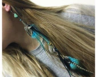 Natural Feather earring, oneside earring,