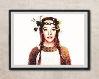 Anne with an E Watercolour Print