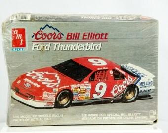 ORIGINAL Sealed Vintage AMT Coors Bill Elliott Ford Thunderbird 1/25 Model