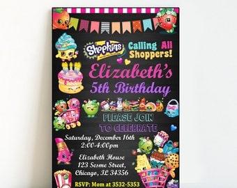 Instant Download-Shopkins Invitation,Shopkins Birthday,Shopkins Party,Shopkins Invitation Printable,Shopkins Invitation Template