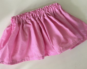 Baby Skirt, Girl Skirt, Toddler Skirt, Girl clothes, Pink Skirt, Baby gingham skirt