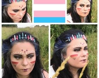 Transgender Pride Crystal Crown