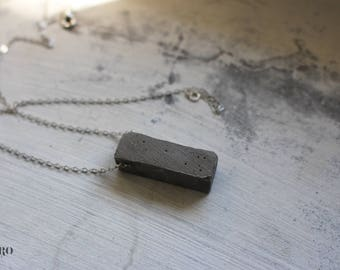Cement/Concrete geometric geometric necklace amulet necklace