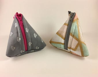 Small Triangle Coin/Pacifier Travel Pouch
