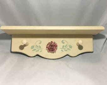 Almond Wall Hook with Flower Application
