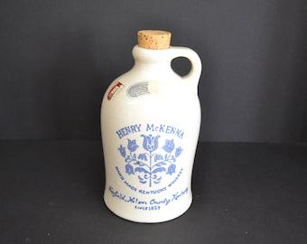 Vintage Henry McKenna Hand Made Kentucky Whiskey Jug 4/5 Quart