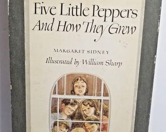 Vintage Five Little Peppers and How they Grew Margaret Sidney Ill Junior Library