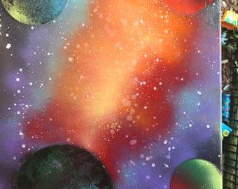 Space spray paint