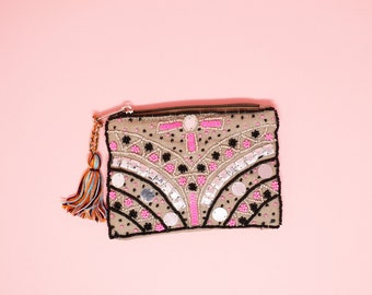 Embellished Coin Bag ( 3 color choices)