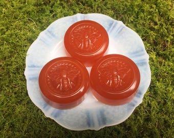 Amber organic guest soaps ~ Tibetan amber
