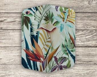 Tropical Flowers Full Flip Case For iPhone 5, 5S, SE (S729)